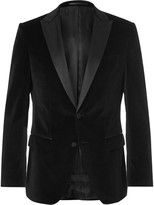 HUGO BOSS Black Slim-Fit Silk-Trimmed Tuxedo Jacket