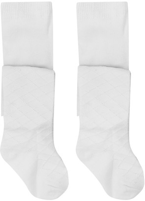 M&Co White stitch tights (newborn-24mths)