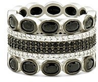 Freida Rothman Industrial Finish Five-Stack Ring in Rhodium-Plated Sterling Silver
