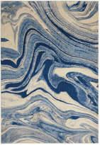 "Nourison Moraine MO749 Light Blue 7'9"" x 10'10"" Area Rug"