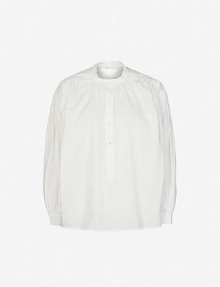 Anine Bing Eden mandarin-collar cotton shirt