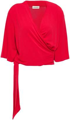 By Malene Birger Wrap-effect Stretch-crepe Top
