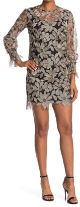 Trina Turk Vinology Embroidered Floral Shift Dress