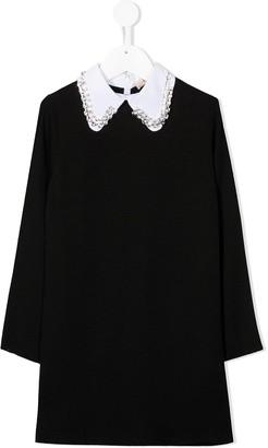 No21 Kids Crystal-Embellished Cotton Blouse