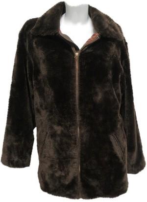 Gianfranco Ferre Brown Faux fur Coat for Women