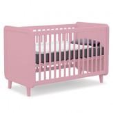 Laurette Kiss Curl Convertible Bed 70x140 cm - Vintage Pink