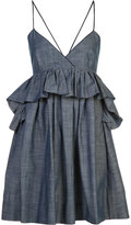 Piamita 'Alessandra' ruffled babydoll dress - women - Cotton - S