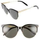 Victoria Beckham Women's Layered Combination Kitten 55Mm Sunglasses - Amber Tortoise Shell