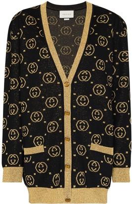Gucci GG lame wool cardigan