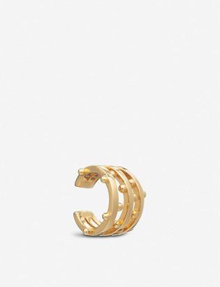 Rachel Jackson Punk 22ct gold-plated silver ear cuff