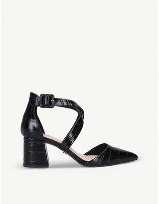 Selfridges Arabella croc-embossed faux-leather courts