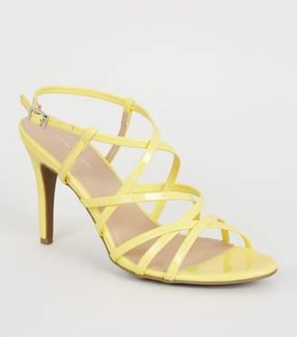 New Look Patent Strappy Stiletto Heels