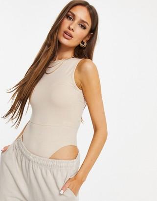 Public Desire bodysuit in beige