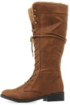 Charlotte Russe Qupid Knee-High Combat Boots