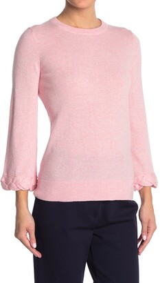 Kinross Braided Cuff Cashmere Knit Sweater