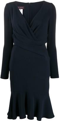 Talbot Runhof Cross Front Dress