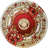 Versace Christmas Blooms Cake Plate