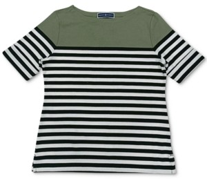 Karen Scott Plus Size Boat-Neck Striped Top, Created for Macy's
