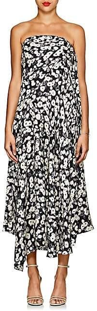Derek Lam Women's Floral Silk Jacquard Strapless Dress - Black Multi