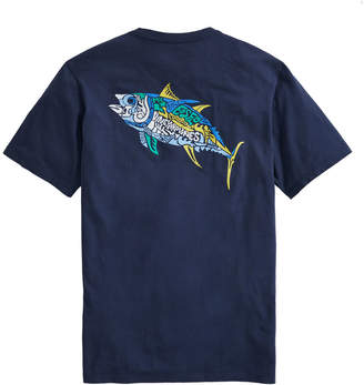 Vineyard Vines Big & Tall Tuna Icon Fill Short-Sleeve Pocket Tee