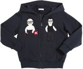 Dolce & Gabbana Designers Patch Zip-Up Cotton Sweatshirt