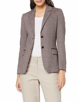 Gant Women's D1. Dogtooth Jersey Slim Blazer Suit Jacket