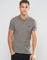 Asos Muscle Pique Polo Shirt With Logo In Gray