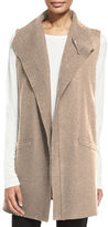 Eileen Fisher Boiled Wool Long Vest, Petite