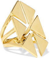 Noir Rivoli gold-tone ring