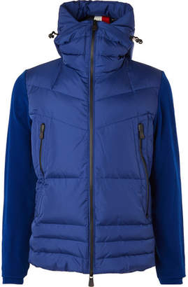 Moncler Quilted Panelled Stretch-Fleece Hooded Down Ski Jacket