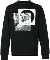 Diesel Black Gold circle print sweatshirt - men - Cotton/Spandex/Elastane/Lyocell/Viscose - S