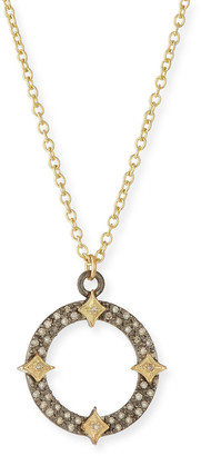 Armenta Old World Diamond Open Pendant Necklace w/ Crivelli