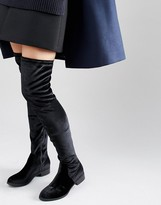 Over The Knee Flat Boots - ShopStyle