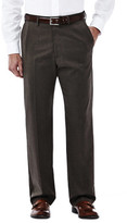 Haggar Premium Stretch Solid Dress Pant - Classic Fit, Flat Front, Hidden Expandable Waistband