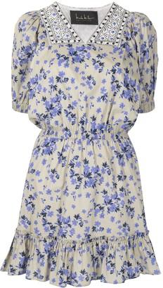 Nicole Miller floral-print V-neck dress