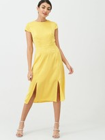 Ted Baker Bellana Soft Short Sleeve Midi Dress - Yellow