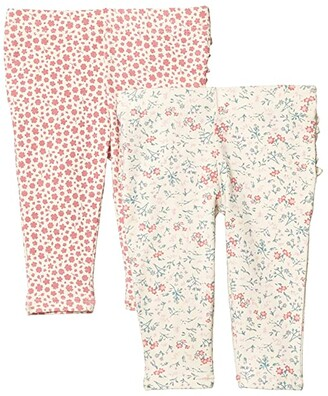 Cotton On 2-Pack Quinn Ruffle Leggings (Infant/Toddler) (Dark Vanilla Maude Floral/Very Berry Edith Floral) Girl's Casual Pants