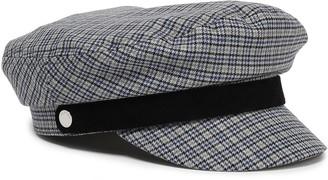 Rag & Bone Fisherman Suede-trimmed Checked Wool-blend Cap