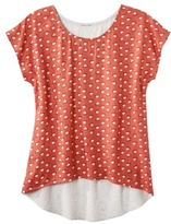 Mossimo Juniors High Low Dolman Sleeve Top - Assorted Colors and Patterns