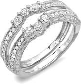 DazzlingRock Collection 0.60 Carat (ctw) 18K White Gold Round Diamond Ladies Anniversary Wedding Band (Size 8.5)