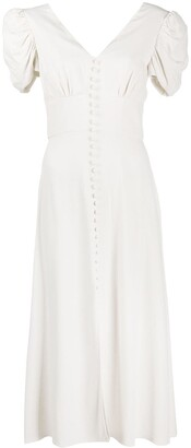 Saloni V-Neck Midi Dress