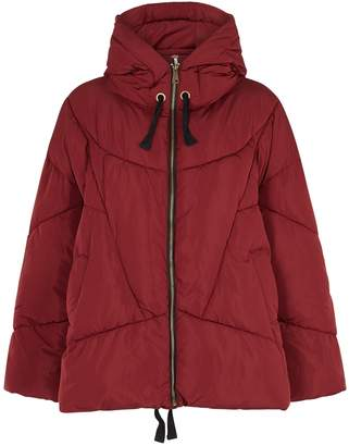 Free People Hailey Red Padded Shell Jacket