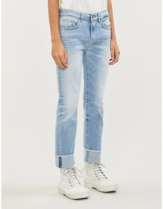 7 For All Mankind Relaxed Skinny Luxe Vintage distressed mid-rise girlfriend jeans