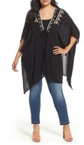 Bobeau Plus Size Women's Embroidered Wrap