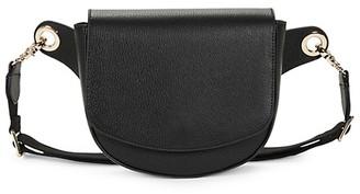 Saks Fifth Avenue Pebbled Leather Saddle Belt Bag