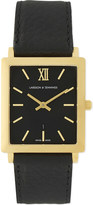 Larsson & Jennings Gold and leather watch