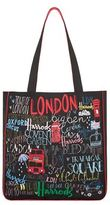 Harrods Doodle London Canvas Tote Bag