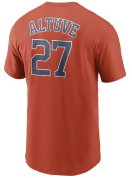 Nike Men's Jose Altuve Houston Astros Name and Number Player T-Shirt