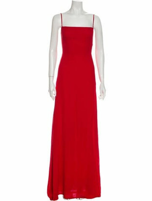 Reformation Square Neckline Long Dress w/ Tags Red
