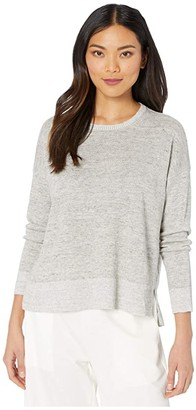 Eileen Fisher Round Neck Box-Top (Bramble) Women's Sweater